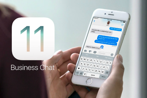 business chat iMessage iOS 11